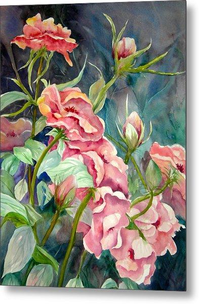 Provence Roses Metal Print