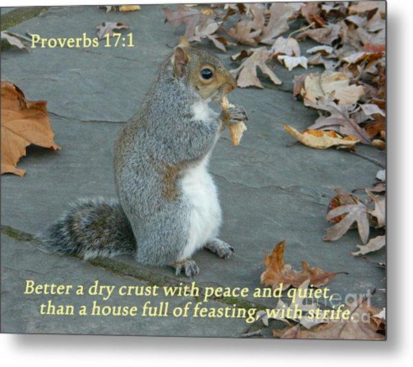 Proverbs 17-1 Metal Print