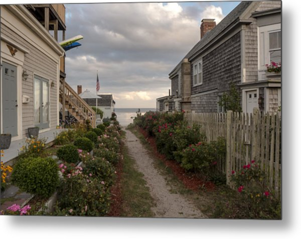 Provincetown Alley Metal Print