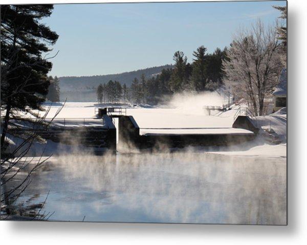 Winter  Pine River Pond  Metal Print