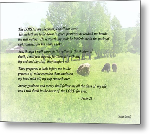 Psalm 23 The Lord Is My Shepherd Metal Print