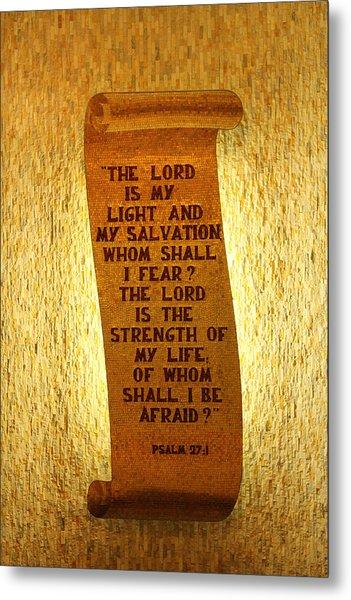 Psalm 27 Metal Print by James Hammen