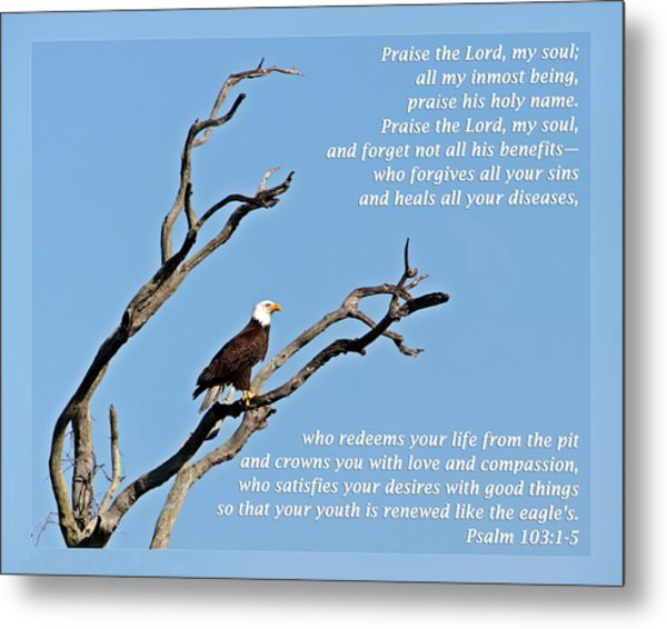 Psalm 103 1-5 Metal Print