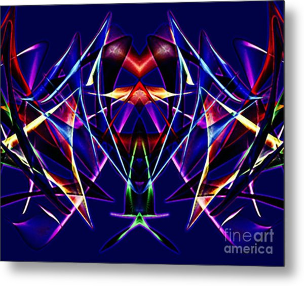 Psychedelic Bat N Wings Metal Print