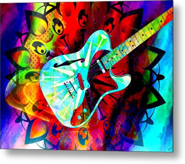 Psychedelic Guitar Metal Print