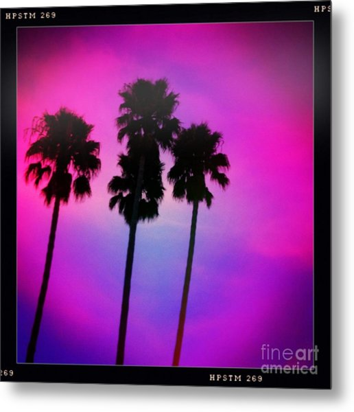 Psychedelic Palms Metal Print