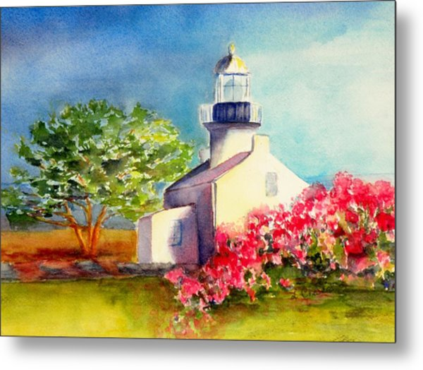 Pt Loma Lighthouse Metal Print by Lori Chase