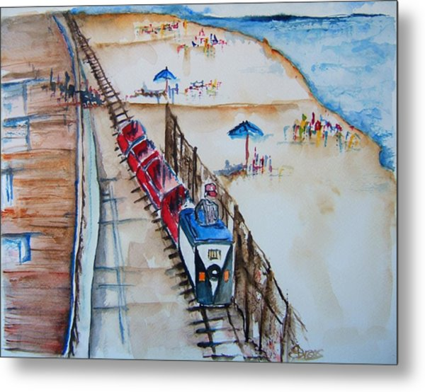 Pt Pleasant Nj Sand Train Metal Print