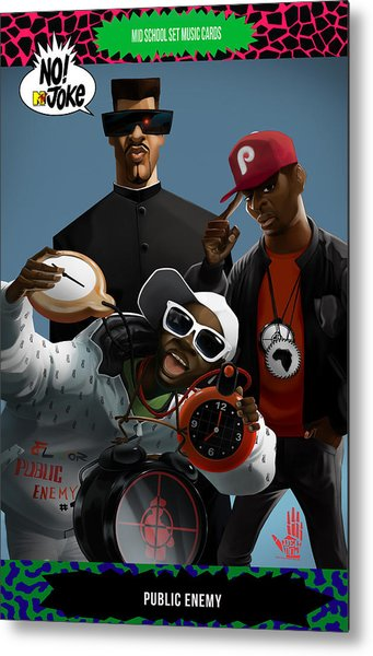 Public Enemy Ntv Card Metal Print