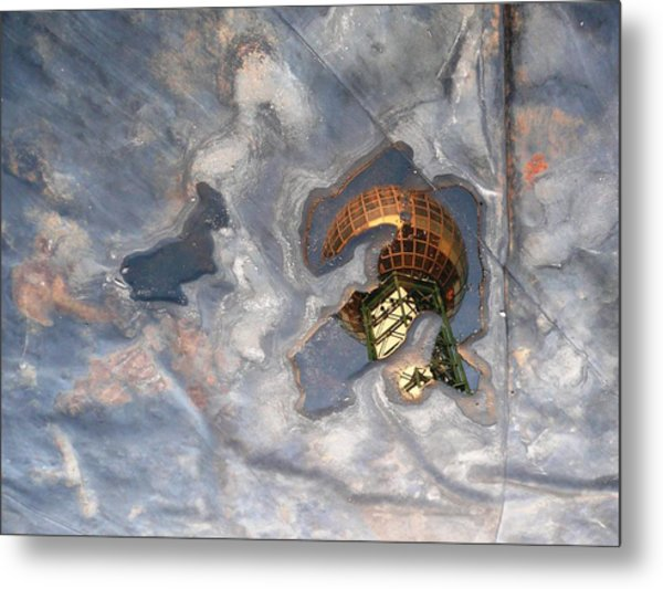 Puddle Of Sunsphere Metal Print