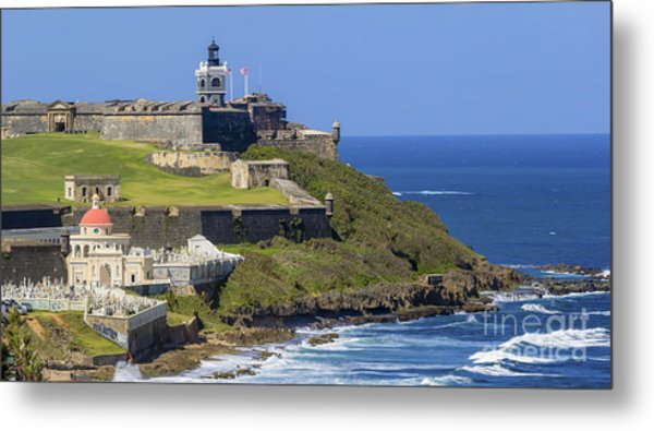 Puerto San Juan Light Ocean View Metal Print