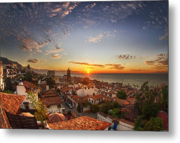 Puerto Vallarta Sunset Metal Print