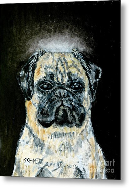 Pug Angel Metal Print by Jay  Schmetz