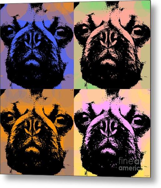 Pug Pop Art Metal Print
