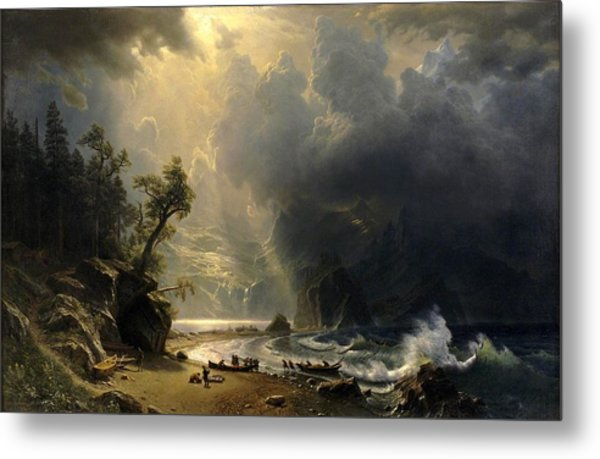 Puget Sound On The Pacific Coast Metal Print