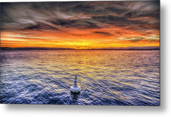 Puget Sound Sunset Metal Print