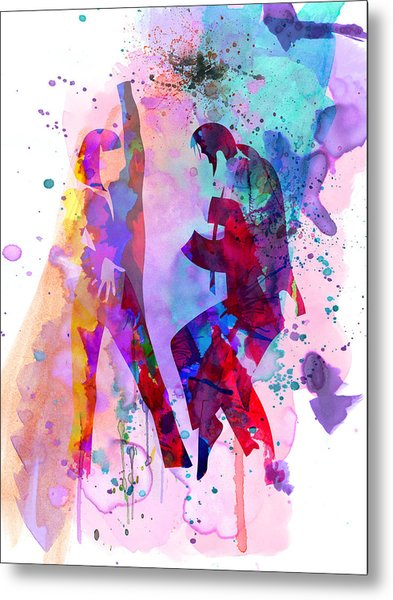 Pulp Watercolor Metal Print