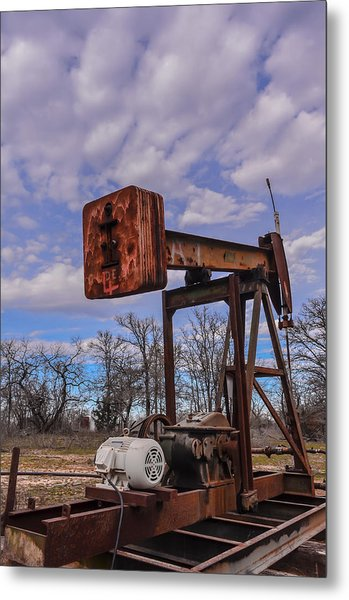 Pump Jack Metal Print by Kelly Kitchens