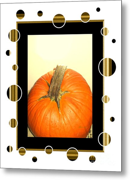 Pumpkin Card Metal Print