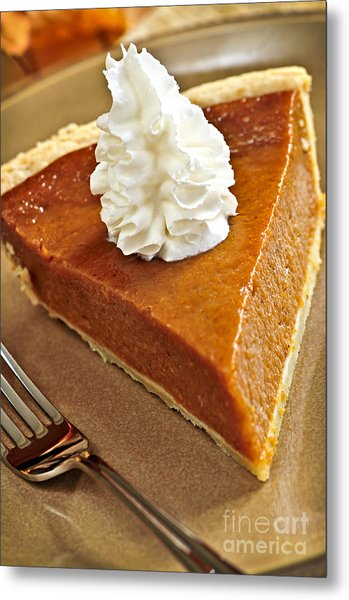 Pumpkin Pie Metal Print