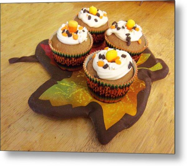 Pumpkin Spice Cupcakes Metal Print by Rosalie Klidies
