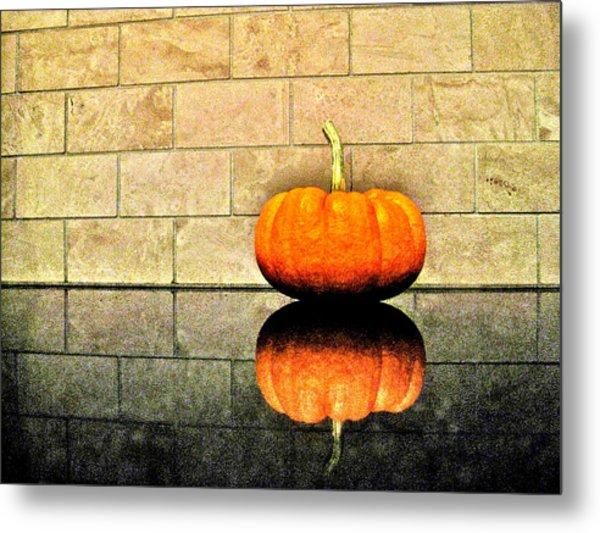 Pumpkin Still Life Metal Print