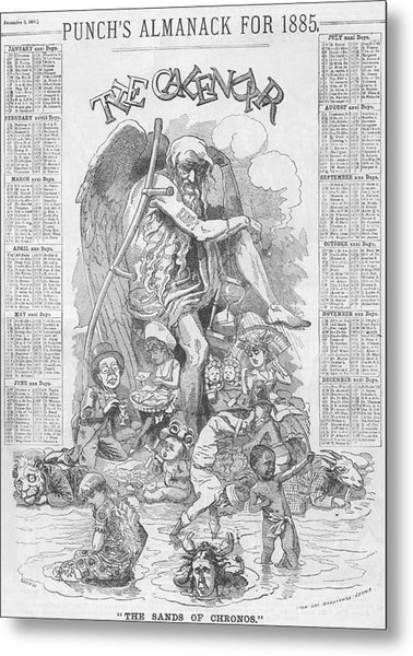 Punch's Almanack For 1885 Metal Print