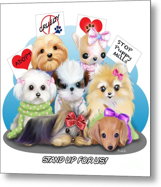 Puppies Manifesto Metal Print