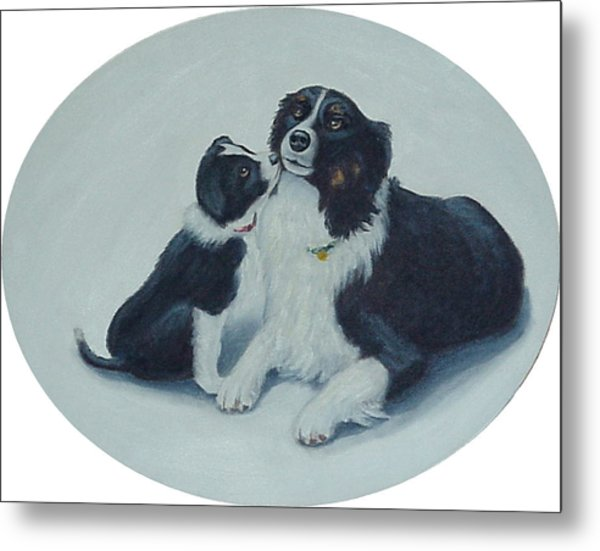 Puppy Kisses Metal Print
