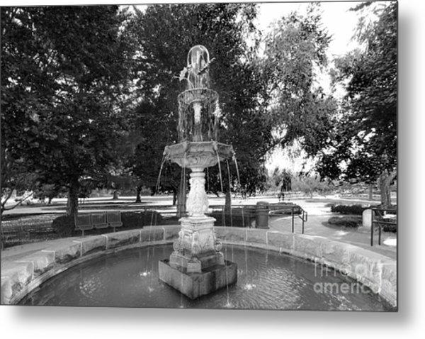 Purdue University Fountain Metal Print