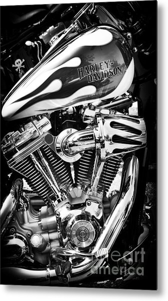 Pure Harley Chrome Metal Print