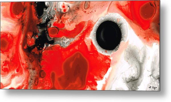 Pure Passion - Red And Black Art Painting Metal Print