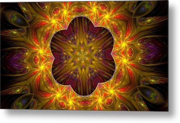 Purple Bliss Kaleidoscope Metal Print