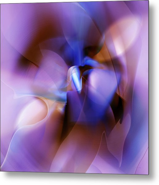 Purple Blossom Abstract Metal Print