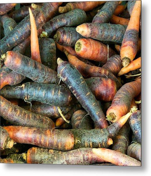 Purple Carrots Metal Print by Tom Giske
