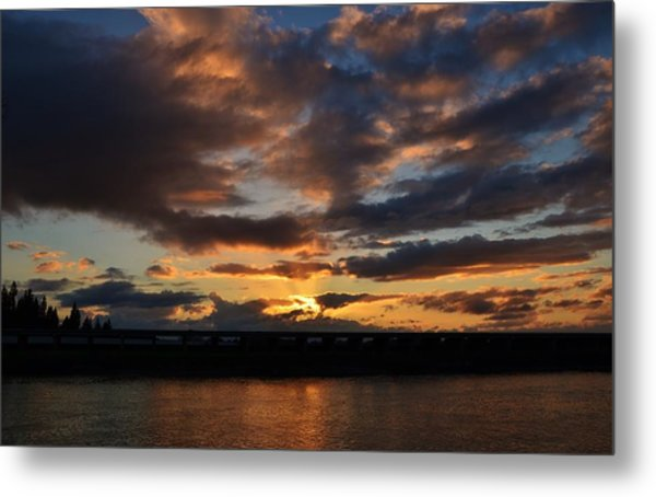 Purple Clouds Sunset  Metal Print