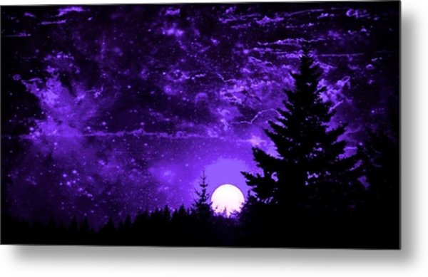Purple Fantasy Sunset Metal Print