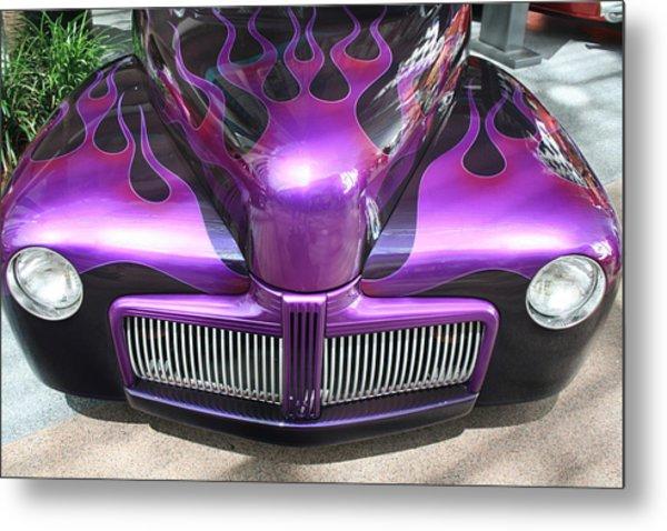 Purple Flames Metal Print