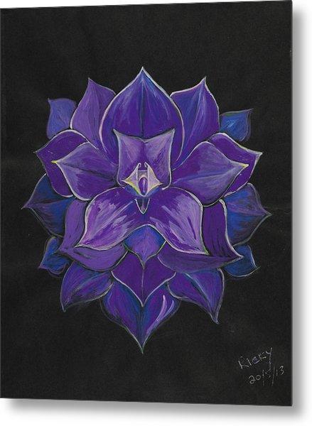 Purple Flower - Painting Metal Print
