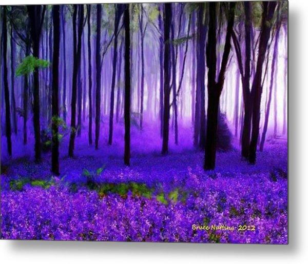 Purple Forest Metal Print