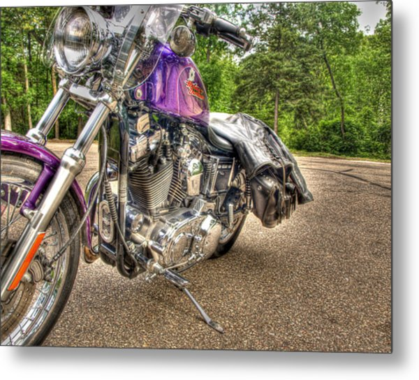Purple Harley Metal Print