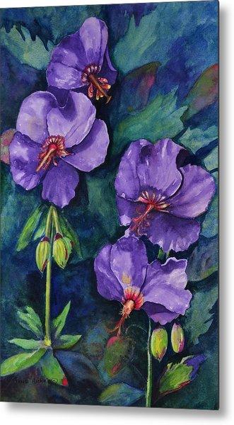 Purple Hibiscus Metal Print
