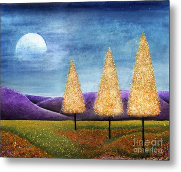 Purple Hills Metal Print
