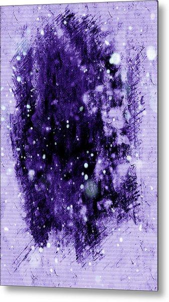 Purple Impression Metal Print