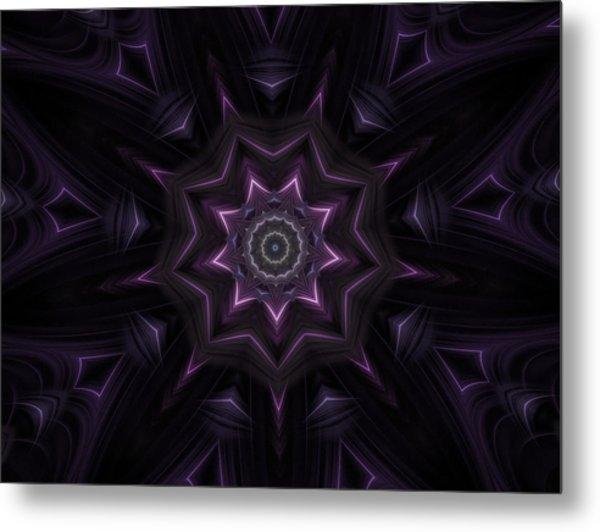 Purple Majestry Kaleidoscope Metal Print