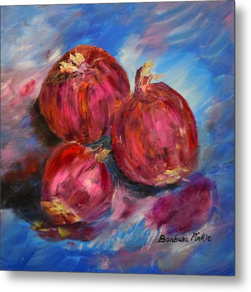 Purple Onions Metal Print by Barbara Pirkle
