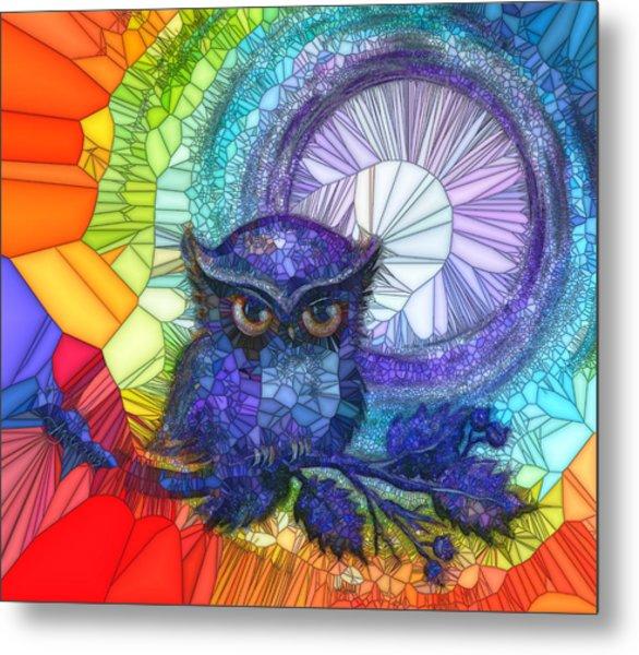 Owl Meditate Metal Print