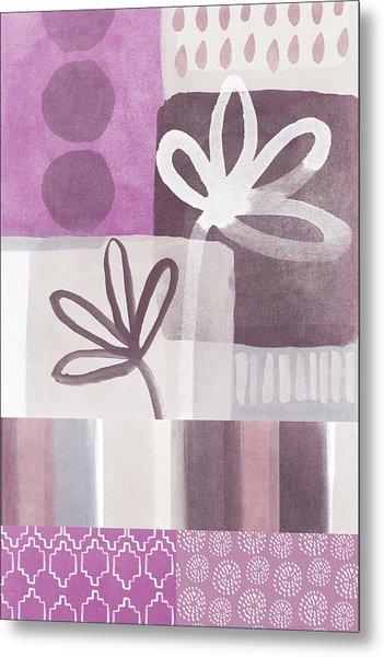 Purple Patchwork- Contemporary Art Metal Print