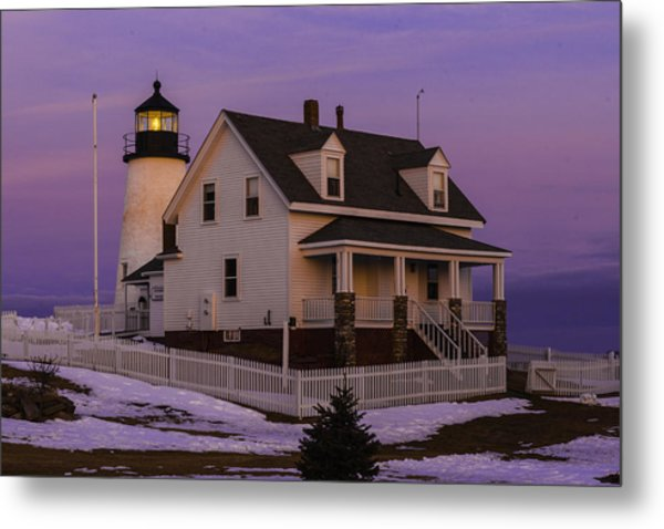 Metal Print featuring the photograph Purple Pemaquid by David Hufstader