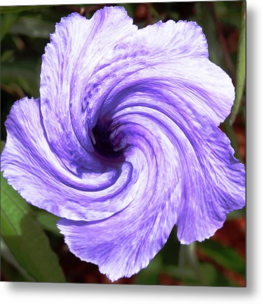Purple Petunia Twirl Metal Print